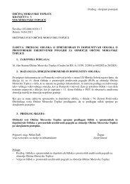 Predlog Odloka o spremembah in dopolnitvah Odloka o prostorskih ...