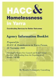 Agency Information Booklet - HomeGround Services