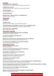 PIETANZE CALDE - Ticino Hotels Group