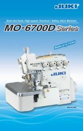 Semi-dry-head, High-speed, Overlock / Safety stitch Machine