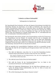 Gedanken zur Bonner Kulturpolitik - ProBeethovenhalle eV
