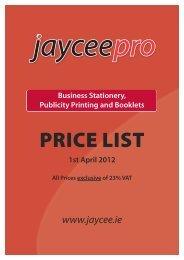 Price List - Jaycee