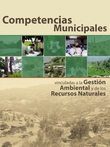 Competencias municipales vinculadas a la gestión ambiental y de ...