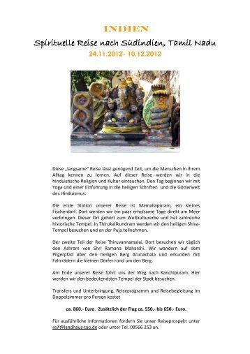 INDIEN Homepage Nov Dez 2012 - C - Landhaus Tao