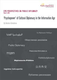 'Psychopower' of Cultural Diplomacy in The Information Age.