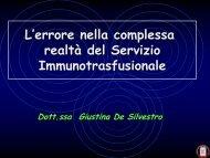 corso errore De Silvestro.pdf - Dipartimento di Medicina Ambientale ...