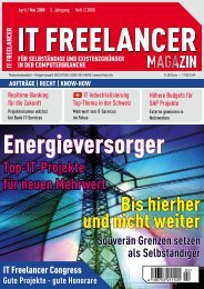 IT Freelancer Magazin Nr. 2/2008