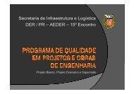 programa de qualidade em projetos e obras de engenharia - DER
