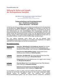 Presseinformation herunterladen - KSK Kreissparkasse Saarpfalz