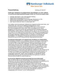 Hamburger Volksbank mit erfolgreichstem Geschäftsjahr zum 150.  ...