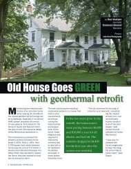 Old House Goes GREEN - Common Ground