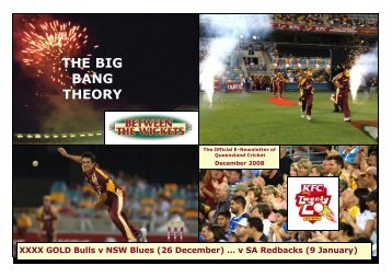THE BIG BANG THEORY - Queensland Cricket