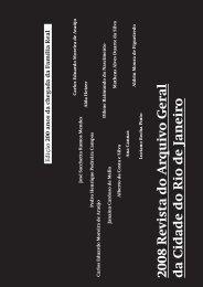 2008 Revista do Arquivo Geral da Cidade do Rio de ... - rio.rj.gov.br