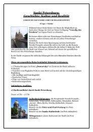Sankt Petersburg: Geschichte, Kultur und Realität - Russland anders