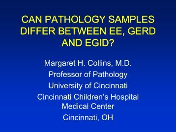 Can Pathology Samples Differ Between EoE GERD and - AInotes