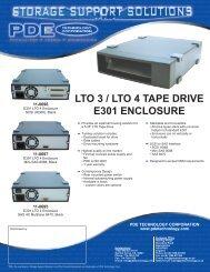 lto 3 / lto 4 tape drive e301 enclosure - Data Storage Solutions