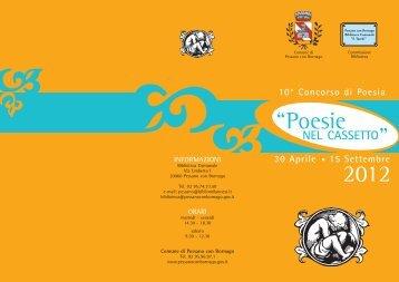 Poesie nel cassetto 2012.pdf - Concorsi Letterari