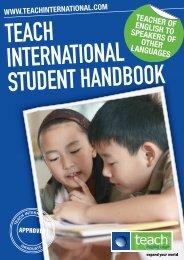 Teach International Student Handbook
