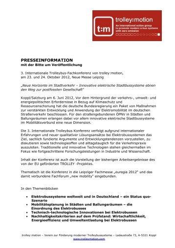 PA03_Trolleybus und TROLLEY Transferability ... - TrolleyMotion