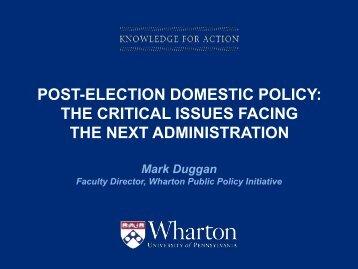 Wharton Public Policy Initiative