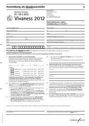 Anmeldung als Direktaussteller - Vivaness