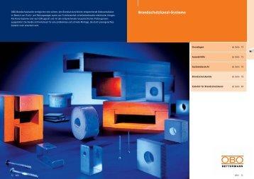 PDF Datei: Broschüre / OBO / Katalog BSS Brandschutzkanal