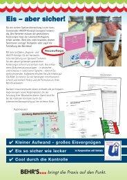 Hygiene und HACCP zur Herstellung von Speiseeis ... - Uniteis e.V.