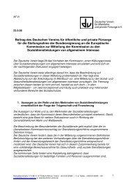 Stellungnahme des Deutschen Vereins zur EU ...
