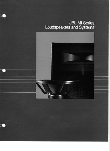 Musical Instrument Loudspeakers - JBL Professional