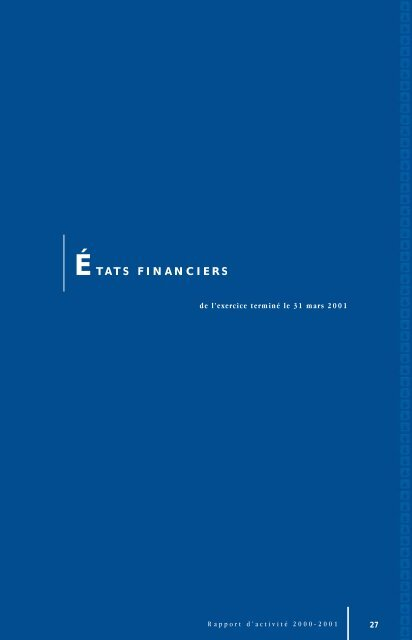 États financiers (163 Ko) - Héma-Québec
