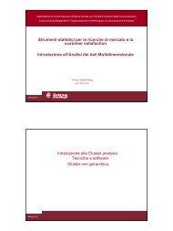 Strumenti statistici per le ricerche di mercato e la Strumenti statistici ...