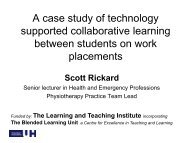 A case study of technology supported collaborative ... - StudyNet