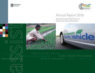 Carbon Finance–Assist Annual Report 2010 - World Bank Institute