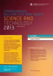 science and technology - Comprehensive Nuclear-Test-Ban Treaty ...
