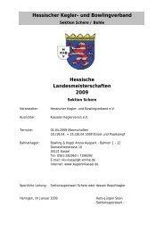 Hessische Meisterschaften 2009 Kegeln - Sektion ... - KSV Wetzlar