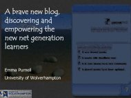 A brave new blog, discovering and empowering the new ... - StudyNet