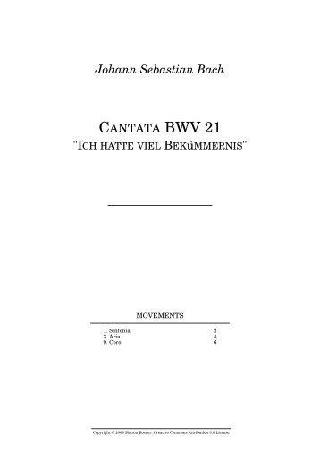 Johann Sebastian Bach CANTATA BWV 21