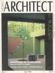 Indian Architect & Builder, April
