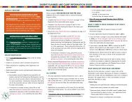 PAReNt PLANNeR AND CAMP INFoRMAtIoN guIDe