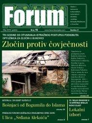 Maj, 2010. go di ne Broj 15 www.forumbosnjaka.com Go di na V ...