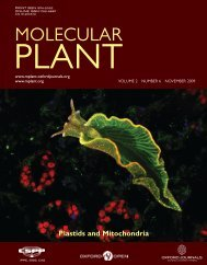 Front Matter (PDF) - Molecular Plant - Oxford Journals