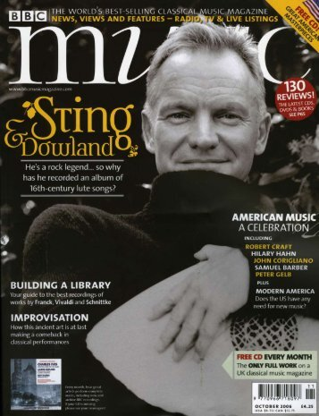 In London, I buy the BBC music mag, download ... - Sting - out of print