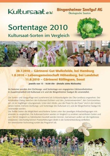 Sortentage 2010 - Bingenheimer Saatgut AG
