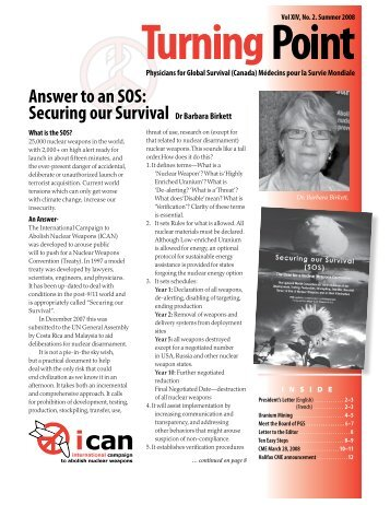 Answer to an SOS - Physicians for Global Survival