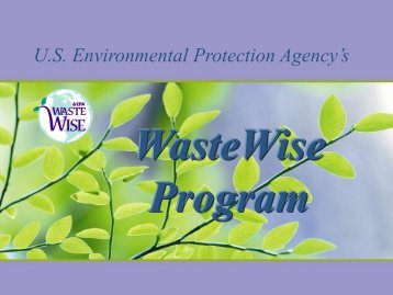 What Is WasteWise? - PPRC