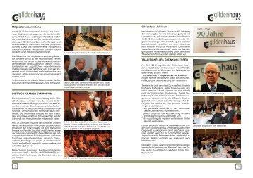 2. Halbjahr 2010 - Gildenhaus e.V.