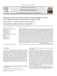 Assessment of the aerosol water content in urban atmospheric ...