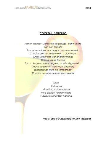 Propuesta Cócteles (pdf) - Hoteles Silken
