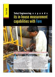 its in-house measurement capabilities with Faro - Industrial Products