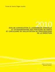 Circulaire de Sollicitation - Yellow Pages Group